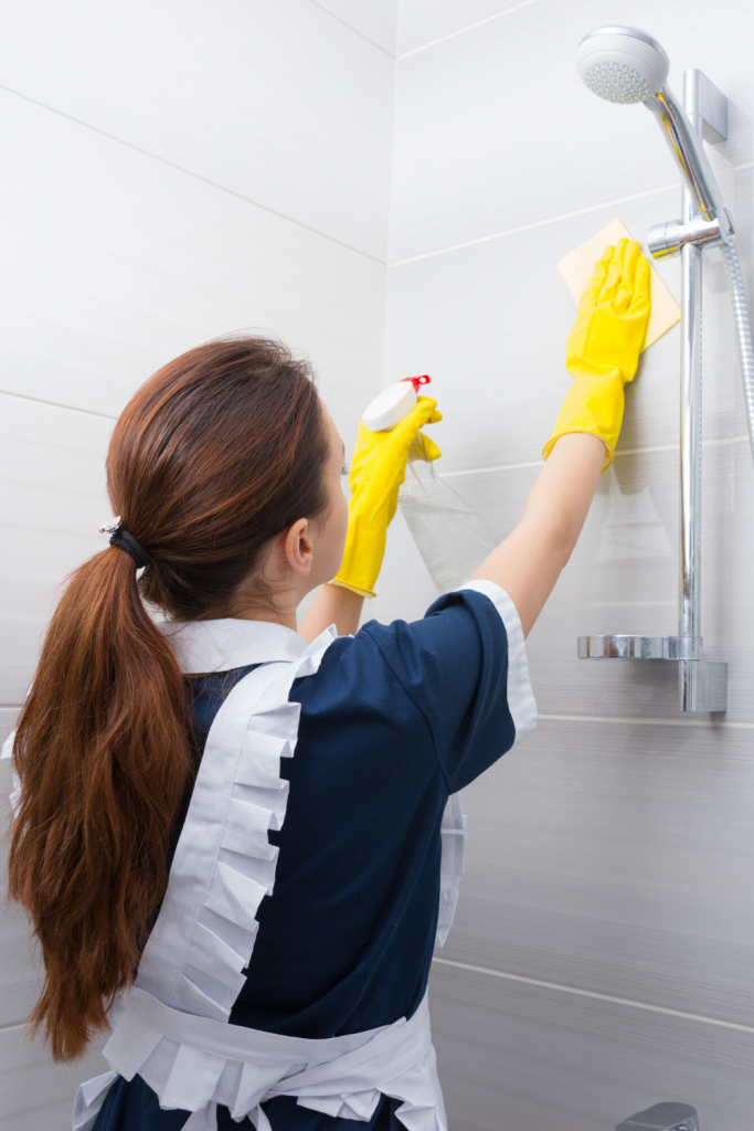 how to clean ceramic tile shower,