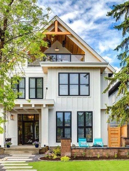 Modern farmhouse exteriors