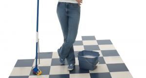 How to make a tile floor shine