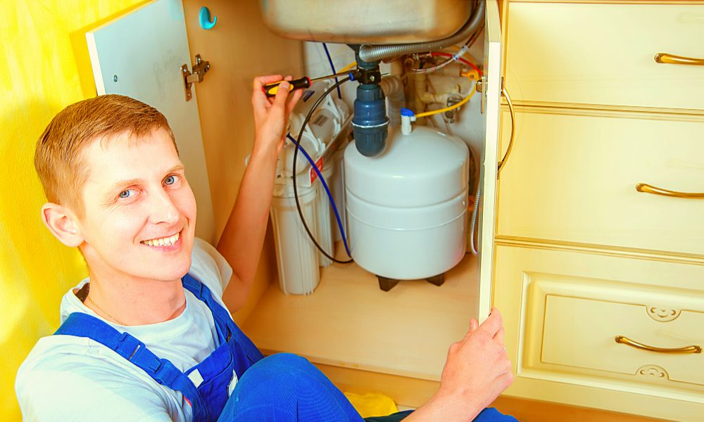 install an under-sink water filter